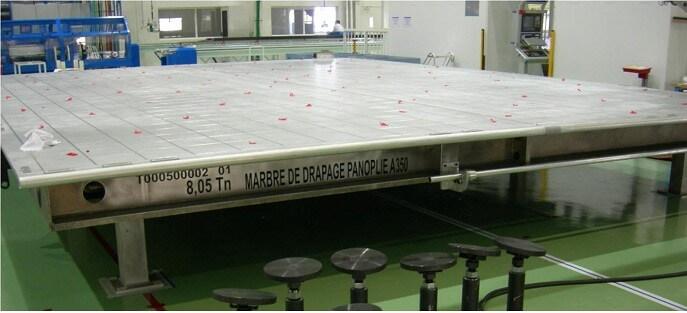 MESA ALUMINIO 9x7m - Mesas planas grandes dimensiones