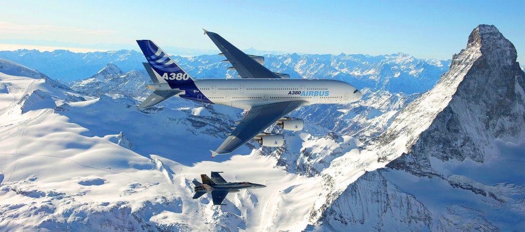 a380 in flight 1 1024x453 - Aeronáutica
