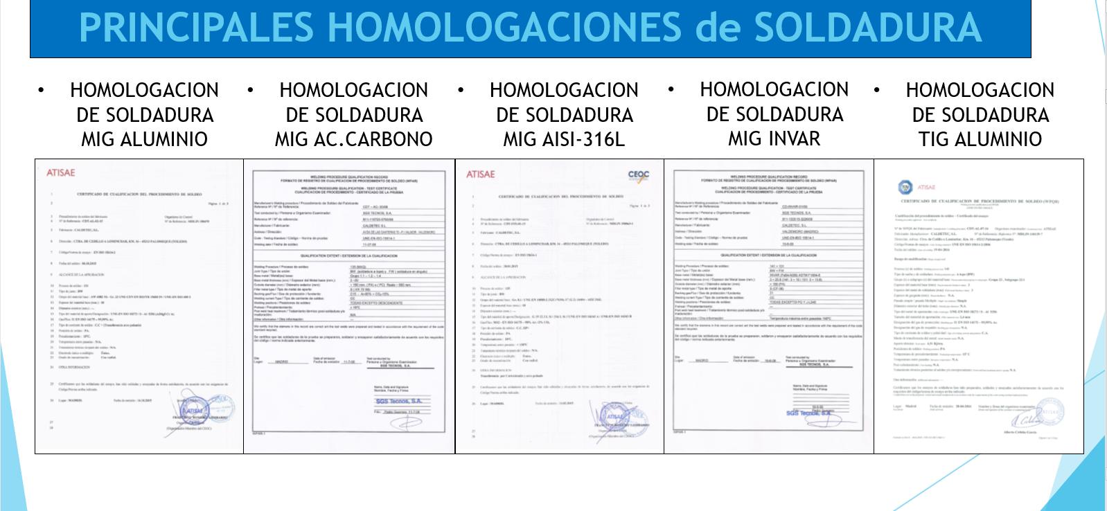 homologaciones - Calderería y Soldadura