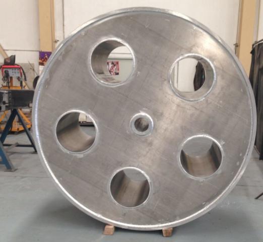 RODETE DE ALUMINIO D=2,5m  e=30mm  2